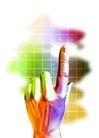 数码之手0023,数码之手,未来科技,手指 网格 格子