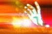 数码之手0051,数码之手,未来科技,数码时代 三维大手 光晕