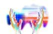 数码之手0058,数码之手,未来科技,科技化 双手 张开