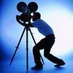 影视制作0075,影视制作,未来科技,放影机 准备 电影院