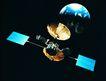 卫星通讯0072,卫星通讯,未来科技,星球 升起 天边
