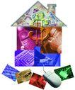 企业网路0009,企业网路,未来科技,屋子 组合 拼装 图片 鼠标