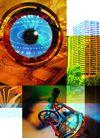 网路商机0017,网路商机,未来科技,未来走向 眼珠 特色 高楼大厦 信息概念