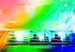 网际网络0039,网际网络,未来科技,彩色 房屋 城市