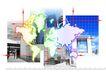 网际网络0040,网际网络,未来科技,地图 方格 商厦