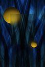 抽象密码背景0013,抽象密码背景,未来科技,神话 森林 圆球 树叉 冷色
