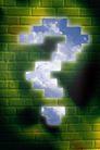 抽象密码背景0024,抽象密码背景,未来科技,砖墙 问号 墙体