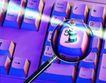 电子商务0063,电子商务,未来科技,放大镜 键盘 按键