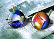 电子商务0064,电子商务,未来科技,眼镜 报纸 圆珠笔
