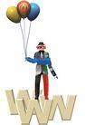 @世界0006,@世界,未来科技,气球 站立 各色 西装 科技人