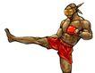 @世界0029,@世界,未来科技,拳击手 蒙眼 踢腿