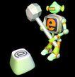 资讯天堂0010,资讯天堂,未来科技,键盘 锤子 脑力 破坏 形象