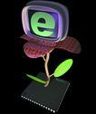 资讯天堂0015,资讯天堂,未来科技,绿苗 成长 植物 顶立 文件夹