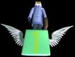 资讯天堂0032,资讯天堂,未来科技,翅膀 方块 黑色