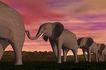 创意无限0074,创意无限,未来科技,远古 大象 群落