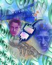 网路世界0009,网路世界,未来科技,人物 科学家 数字排列 贡献 眼神
