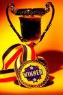 奖牌奖杯0018,奖牌奖杯,静物写真,旺盛 黄色背景 物体 体积 大小