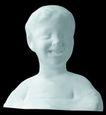 石膏像0072,石膏像,静物写真,少年 微笑 短发