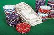 玻璃风格0092,玻璃风格,静物写真,筹码 赌场 纸币