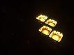 木头人0108,木头人,静物写真,四个盆 点着蜡烛 黄色光