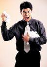商务白领0174,商务白领,商业金融,男白领 手捧一堆白纸 气愤