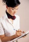 商务白领0192,商务白领,商业金融,褐色小丝巾 认真 透明圆珠笔