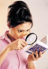 商务白领0194,商务白领,商业金融,放大镜 查字典 橘红色眼镜