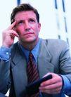 商务洽谈0041,商务洽谈,商业金融,思考的商人