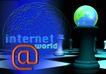 网际网络0017,网际网络,科技,地球 发光 照亮