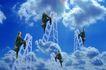数码生活0133,数码生活,科技,蓝天 云梯 登顶 攀爬 登高