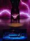 创意资讯0075,创意资讯,科技,紫色 闪电 半空