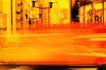 户外活动0180,户外活动,运动,城市剪影 橙红氛围 卡通色调