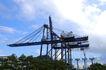 工业类影0021,工业类影,工业,龙门吊 钢架 蓝天