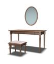 家具模型0226,家具模型,装饰,梳妆镜 木桌