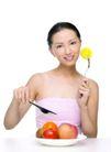 健康美容0065,健康美容,休闲保健,老婆 刀叉 食物