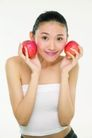 健康美容0076,健康美容,休闲保健,脸蛋 夹执 红苹果