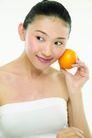 健康美容0091,健康美容,休闲保健,橙子 水果 脸庞