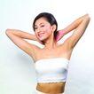 美容保养0073,美容保养,休闲保健,手抱 后脑 斜眼