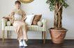 生活剪影0051,生活剪影,休闲保健,主妇 和服 盆栽