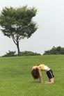 瑜珈美体0017,瑜珈美体,休闲保健,后仰 垂发 大树