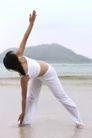 瑜珈美体0041,瑜珈美体,休闲保健,海边锻炼 美体瑜伽