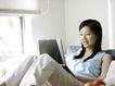 女性居家休闲0029,女性居家休闲,休闲保健,上网 坐床上 家装