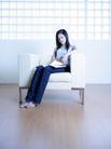 女性居家休闲0062,女性居家休闲,休闲保健,女孩 沙发 地板