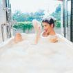 香氛沐浴0026,香氛沐浴,休闲保健,水龙头 玻璃窗 泡泡浴