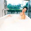 香氛沐浴0033,香氛沐浴,休闲保健,墙壁 绿叶 绿藤