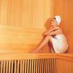 香氛沐浴0059,香氛沐浴,休闲保健,放松时刻 做桑拿 靠在墙角