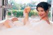 香氛沐浴0075,香氛沐浴,休闲保健,握拳 举手 笑脸