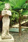 醉心巴厘岛SPA0069,醉心巴厘岛SPA,休闲保健,雕像 绿叶 风景