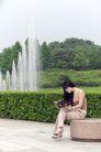 休闲时光0025,休闲时光,休闲保健,灌木 喷泉 石头