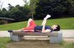 休闲时光0040,休闲时光,休闲保健,石凳 公园 看报